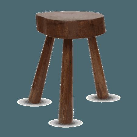 Wooden Three-legged Stool — Ruby Atelier