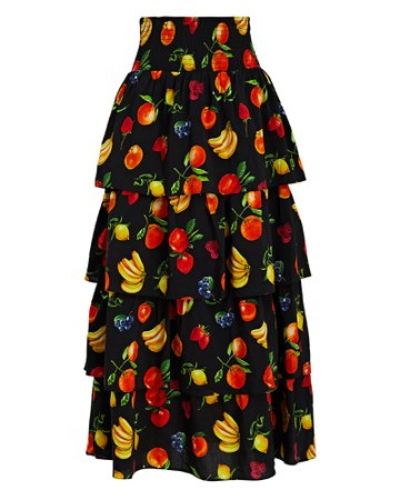 WeWoreWhat Paloma Tiered Fruit Printed Skirt   INTERMIX®
