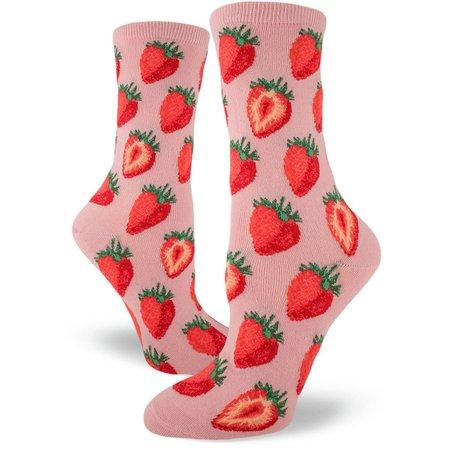 Strawberry Socks for Women | Cute Socks with Sweet Strawberries - ModSock
