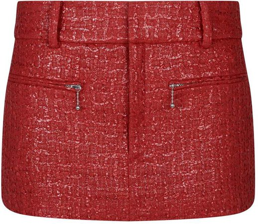 Coated Tweed Skirt