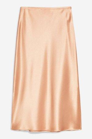 Split Side Satin Bias Midi Skirt | Topshop