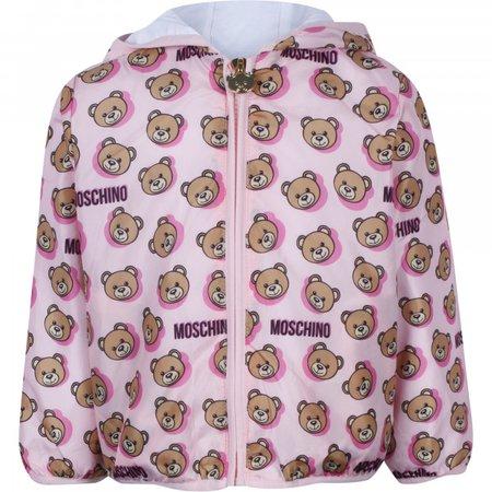 Moschino Baby Logo Teddy Windbreaker in Pink - BAMBINIFASHION.COM