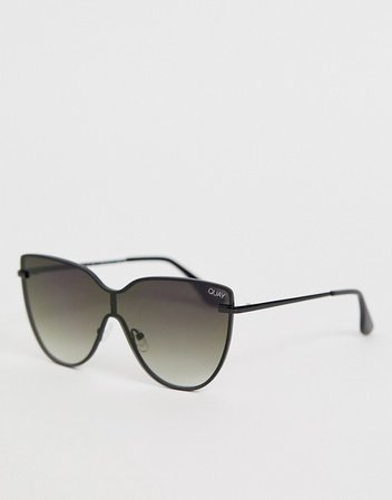 Quay Australia daydream aviator sunglasses in black | ASOS