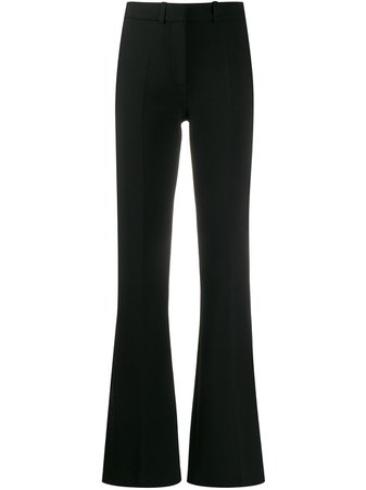 Victoria Victoria Beckham Flared Trousers 2120WTR000431B Black | Farfetch