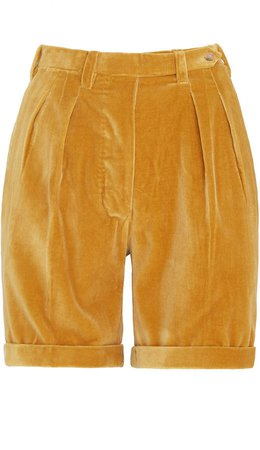 Giuliva Heritage The Husband Pleated Velvet Shorts