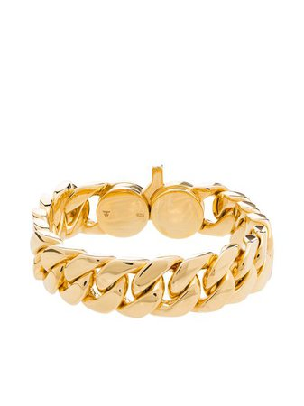 Shop Tom Wood chunky curb-chain bracelet with Express Delivery - FARFETCH
