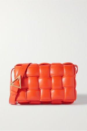 Orange Cassette intrecciato quilted leather shoulder bag | Bottega Veneta | NET-A-PORTER