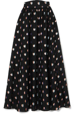 Anna Mason | Tati fil coupé organza maxi skirt | NET-A-PORTER.COM