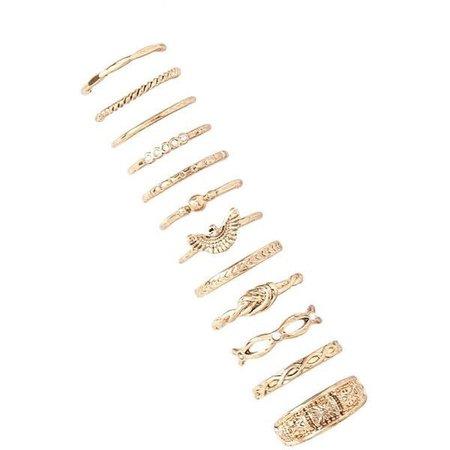 Forever 21 Gold Ring Set