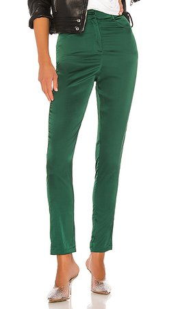 superdown Gretchen High Waisted Pant in Emerald Green   REVOLVE