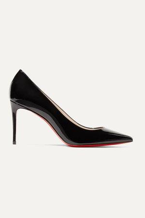 Black Kate 85 patent-leather pumps | Christian Louboutin | NET-A-PORTER