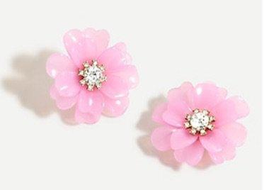 Pink flowers earrings Jcrew