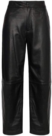 Novara high-rise wide-leg trousers