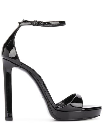 Black Saint Laurent 120Mm Sandals | Farfetch.com