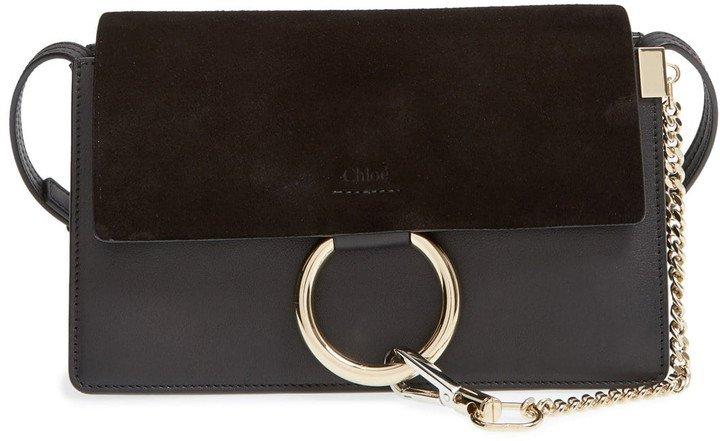 Small Faye Leather Crossbody Bag