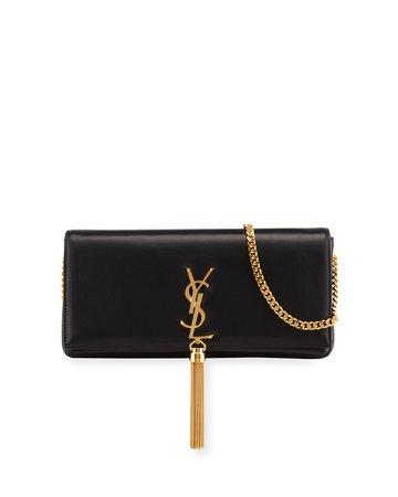 Saint Laurent Kate Supple 99 YSL Monogram Shoulder Bag w/ Tassel   Neiman Marcus