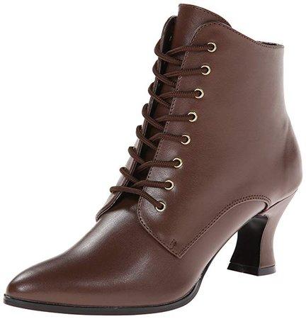 Amazon.com | Funtasma Women's Victorian-35 Boot, Brown Polyurethane, 8 M US | Boots