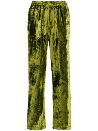 AMI Paris velvet wide leg trousers - FARFETCH