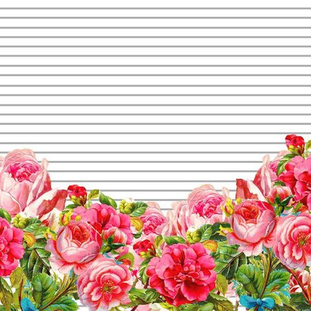 Stripe and Floral Background