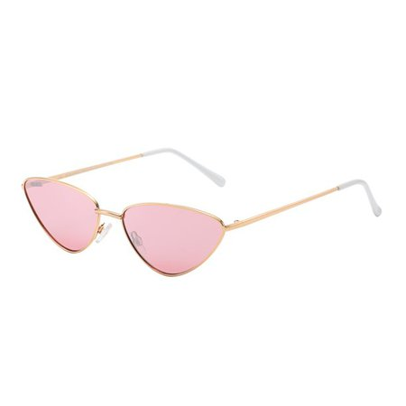 "Piranha Eyewear - Piranha Women's ""Riviera"" Gold Frame Cat Eye Retro Sunglasses with Rose Pink Lens - Walmart.com - Walmart.com"