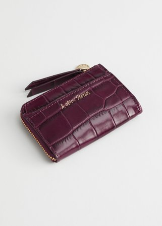 Charm Mini Wallet - Dark Red - Wallets - & Other Stories