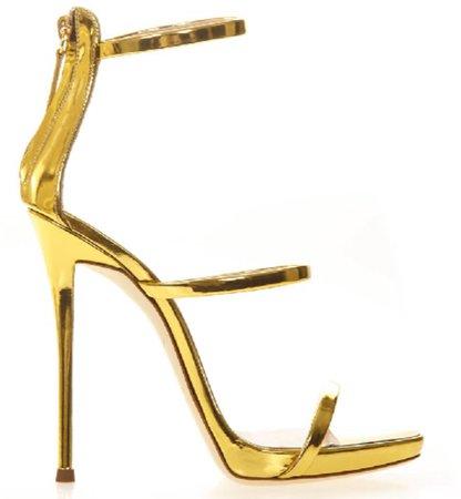 Giuseppe zanotti gold sandal