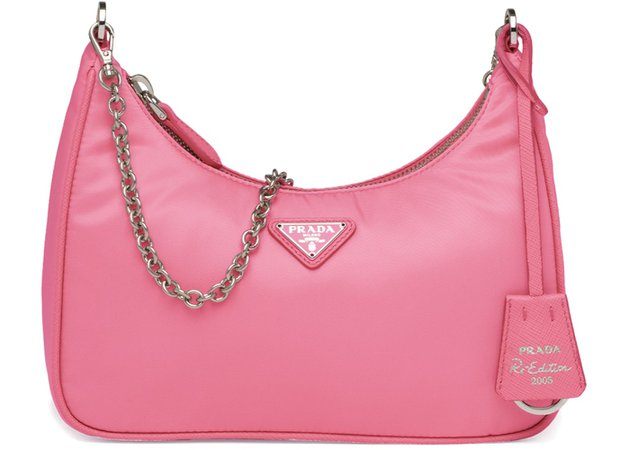 Prada Re-Edition 2005 Shoulder Bag Nylon Pink