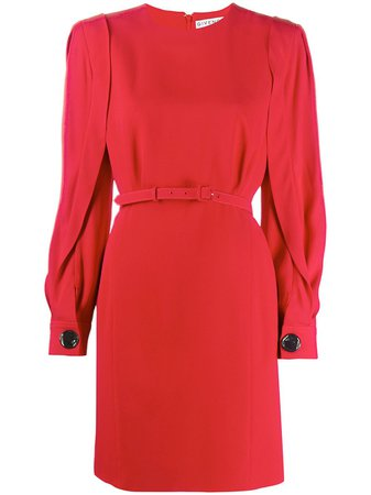Shop red Givenchy puff-sleeve belted dress with Express Delivery - Farfetch