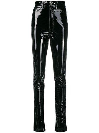 Maison Margiela high-waisted Vinyl Trousers - Farfetch