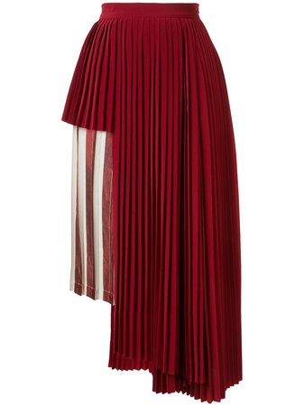 Maison Mihara Yasuhiro Striped Panel Pleated Skirt - Farfetch