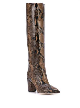 Paris Texas Embossed snakeskin-print Boots - Farfetch