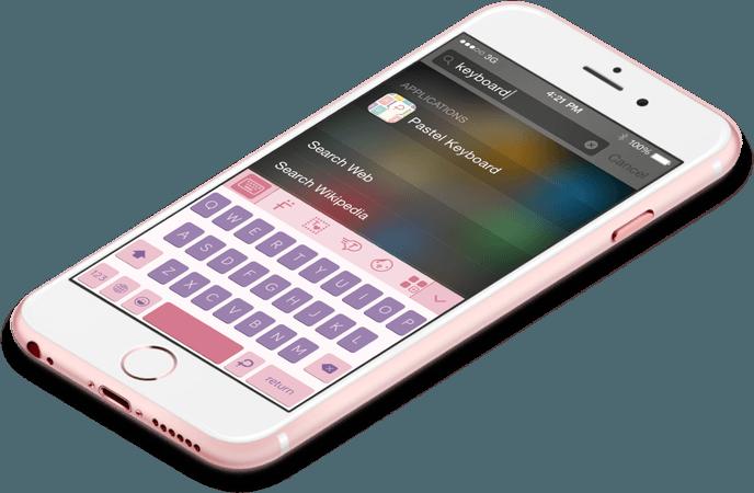 pastel pink phone