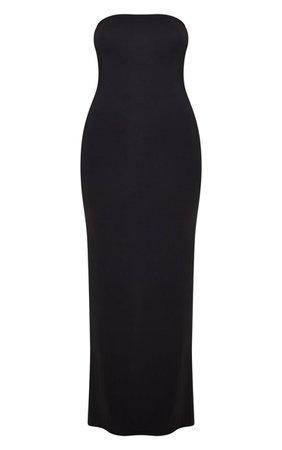 Black Bandeau Maxi Dress   Dresses   PrettyLittleThing USA