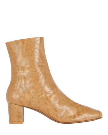 BY FAR Sofia Embossed Leather Booties | INTERMIX®