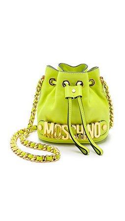 Moschino Mini Drawstring Bag Neon Green