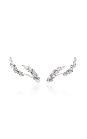 18K White Gold And Diamond Ear Climber by Yeprem