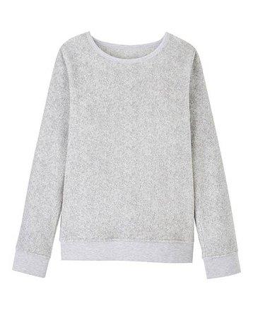 Grey jersery sweater