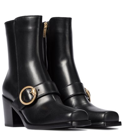 Gianvito Rossi - Wayne leather ankle boots   Mytheresa