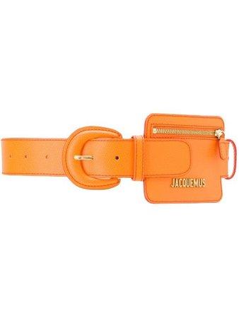 Orange Jacquemus Coin Purse Belt