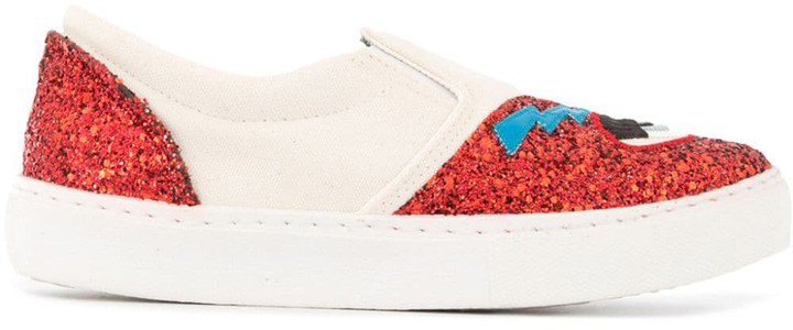 Flirting glitter slip-on sneakers