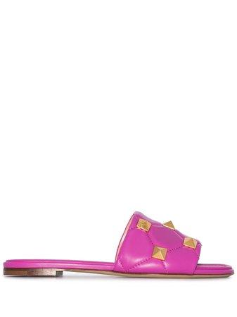 Valentino Garavani Roman Stud flat sandals - FARFETCH