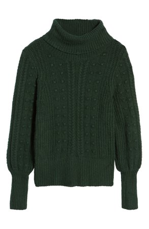 Rachel Parcell Cable & Bobble Turtleneck Sweater (Nordstrom Exclusive) | Nordstrom
