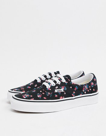 Vans Era Ditsy Floral sneakers in black/white | ASOS