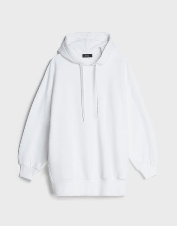 Oversized hooded sweatshirt - Woman | Bershka