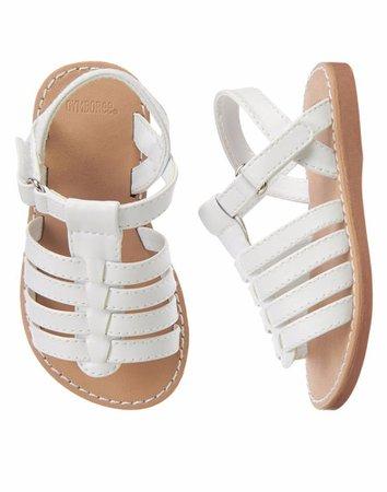 Kid's White Sandals