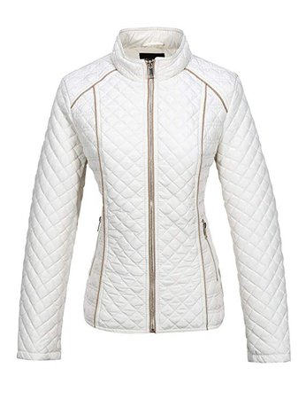 Amazon.com: Bellivera Women's Stand Collar Lightweight Gilet Quilted Puffer Jacket,The Padded Zip Coat for Spring Autumn and Winter: Clothing