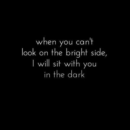 "Alice In Wonderland Quote ""Sit With You In the Dark"""