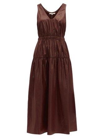 Brown Tibi Liquid Drape Dress