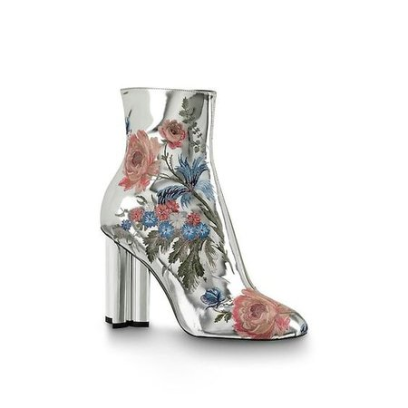 Flower Silver Boots
