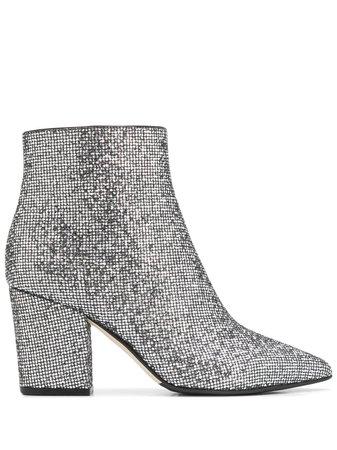 Sergio Rossi Glitter Ankle Boots - Farfetch